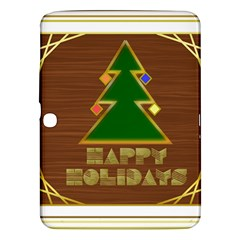 Art Deco Holiday Card Samsung Galaxy Tab 3 (10 1 ) P5200 Hardshell Case