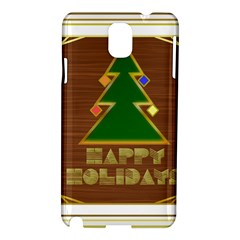 Art Deco Holiday Card Samsung Galaxy Note 3 N9005 Hardshell Case
