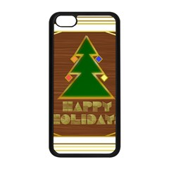Art Deco Holiday Card Apple Iphone 5c Seamless Case (black)