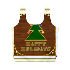 Art Deco Holiday Card Full Print Recycle Bags (m)