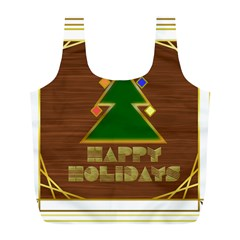 Art Deco Holiday Card Full Print Recycle Bags (l)