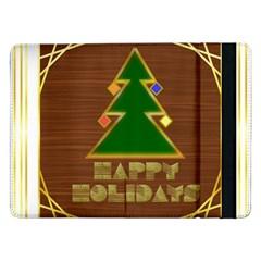 Art Deco Holiday Card Samsung Galaxy Tab Pro 12 2  Flip Case