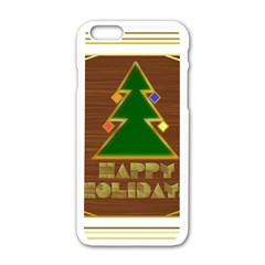 Art Deco Holiday Card Apple Iphone 6/6s White Enamel Case