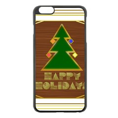 Art Deco Holiday Card Apple Iphone 6 Plus/6s Plus Black Enamel Case