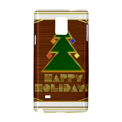 Art Deco Holiday Card Samsung Galaxy Note 4 Hardshell Case