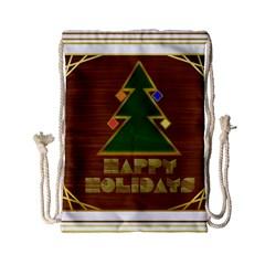 Art Deco Holiday Card Drawstring Bag (small)