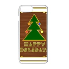 Art Deco Holiday Card Apple Iphone 7 Plus White Seamless Case