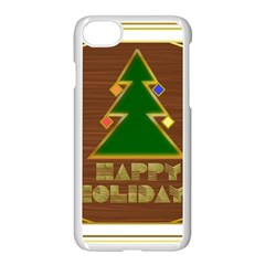 Art Deco Holiday Card Apple Iphone 7 Seamless Case (white)