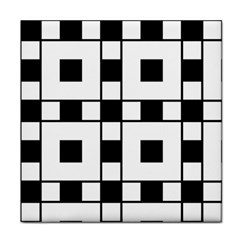 Black And White Pattern Tile Coasters