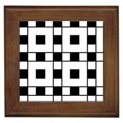Black And White Pattern Framed Tiles