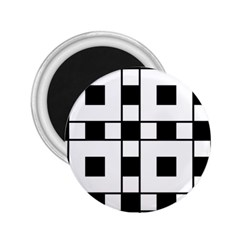 Black And White Pattern 2 25  Magnets