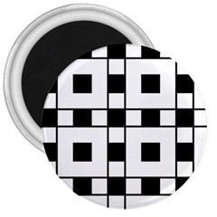 Black And White Pattern 3  Magnets
