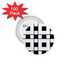 Black And White Pattern 1 75  Buttons (100 Pack)