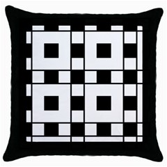 Black And White Pattern Throw Pillow Case (black)