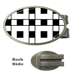 Black And White Pattern Money Clips (oval)