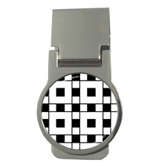 Black And White Pattern Money Clips (round)