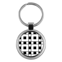 Black And White Pattern Key Chains (Round)