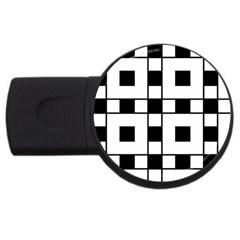 Black And White Pattern Usb Flash Drive Round (2 Gb)