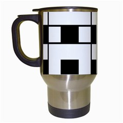 Black And White Pattern Travel Mugs (white)