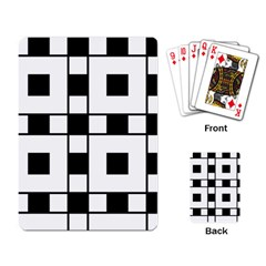 Black And White Pattern Playing Card