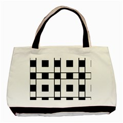 Black And White Pattern Basic Tote Bag