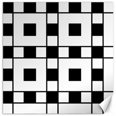 Black And White Pattern Canvas 16  X 16