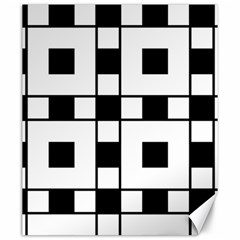 Black And White Pattern Canvas 20  X 24