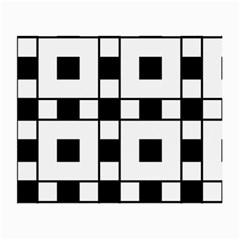Black And White Pattern Small Glasses Cloth (2 Side)