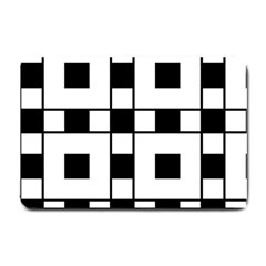 Black And White Pattern Small Doormat