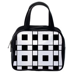 Black And White Pattern Classic Handbags (one Side)