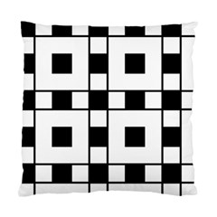 Black And White Pattern Standard Cushion Case (one Side)