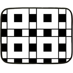 Black And White Pattern Fleece Blanket (mini)