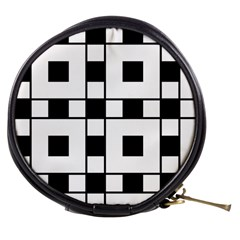 Black And White Pattern Mini Makeup Bags