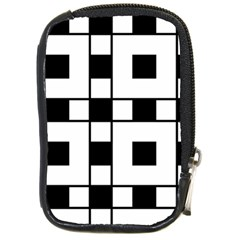 Black And White Pattern Compact Camera Cases
