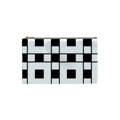 Black And White Pattern Cosmetic Bag (small)