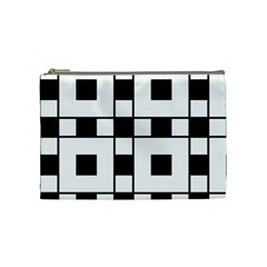 Black And White Pattern Cosmetic Bag (medium)