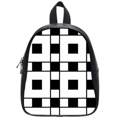 Black And White Pattern School Bags (small)