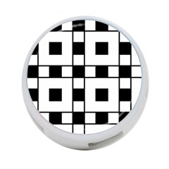 Black And White Pattern 4 Port Usb Hub (two Sides)