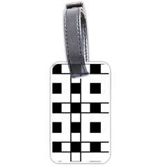 Black And White Pattern Luggage Tags (two Sides)