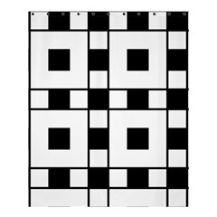 Black And White Pattern Shower Curtain 60  X 72  (medium)
