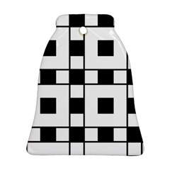 Black And White Pattern Bell Ornament (2 Sides)
