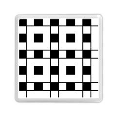 Black And White Pattern Memory Card Reader (square)
