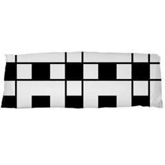 Black And White Pattern Body Pillow Case Dakimakura (two Sides)