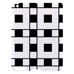 Black And White Pattern Apple Ipad 3/4 Hardshell Case