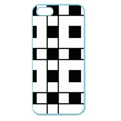 Black And White Pattern Apple Seamless Iphone 5 Case (color)