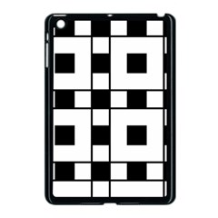 Black And White Pattern Apple Ipad Mini Case (black)