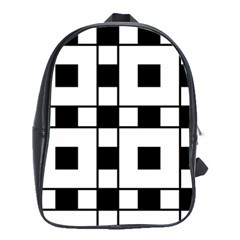 Black And White Pattern School Bags (xl)