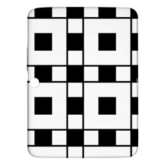 Black And White Pattern Samsung Galaxy Tab 3 (10 1 ) P5200 Hardshell Case