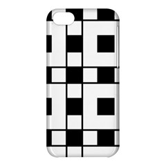 Black And White Pattern Apple Iphone 5c Hardshell Case