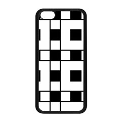 Black And White Pattern Apple Iphone 5c Seamless Case (black)